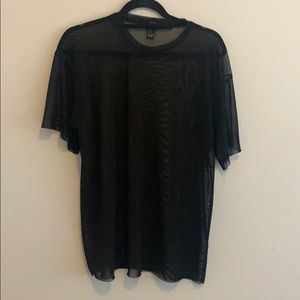 Tops - Black Mesh Tee Shirt